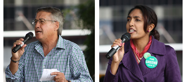 Speaker Wayne Swan and Rachael Jacobs from the Greens