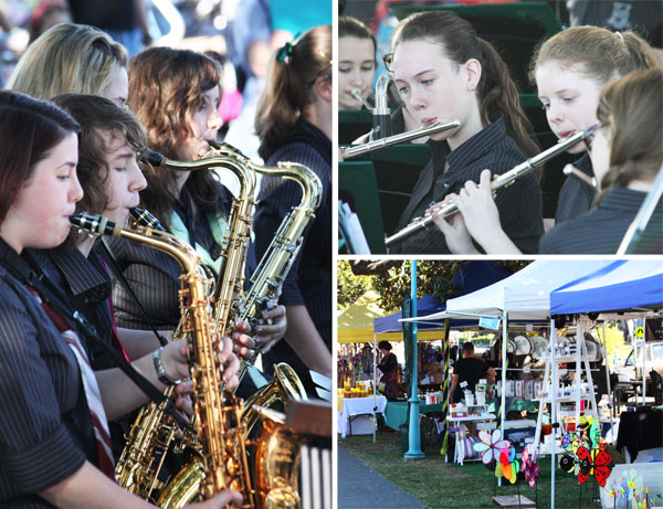 Wynnum State High School Band at Manly Markets