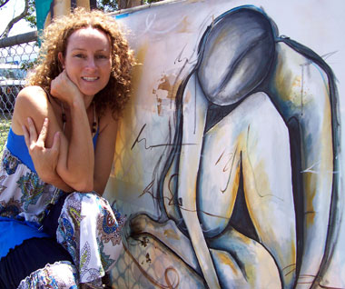 Terri Bastow at the Wynnum Art Lovers Market